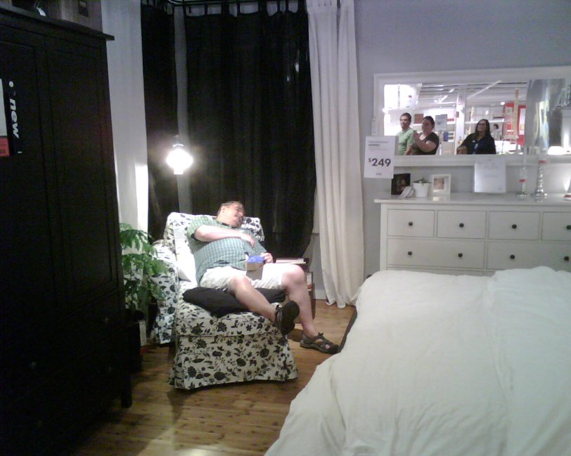 Dad at Ikea
